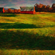 Rolling Hills And Red Barn, Rock Island, Tennessee Art Print