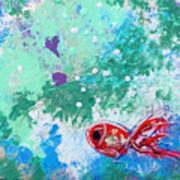 1 Red Fish Art Print