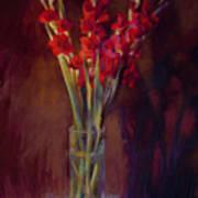 Red Gladiolus Art Print