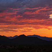 Red Hot Desert Skies  Art Print