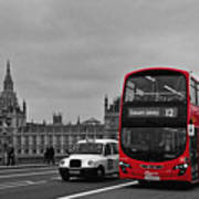 Red London Bus Art Print
