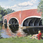 Red Of The Charles Print by Steven A Simpson
