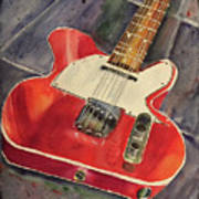 Red Telecaster Art Print