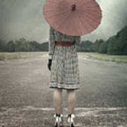 Red Umbrella Art Print by Joana Kruse