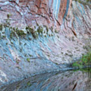 Reflections In Oak Creek Canyon Art Print