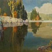 Reflective Lake Art Print