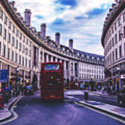 Regent Street In London Art Print