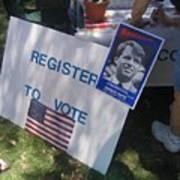 Register To Vote Bobby Kennedy Poster Sylver Short Hand Peart Park Casa Grande Arizona 2004 Art Print