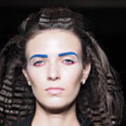 Rehearsals On The Catwalk Of London Fashion Week 2015 Art Print