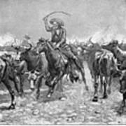 Remington: Cowboys, 1888 Art Print by Granger