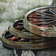 Resting Wheels Art Print