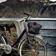 Retro Bike Art Print by Joana Kruse