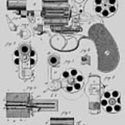 Revolving Fire Arm Patent 1881 Art Print
