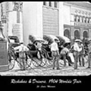 Rickshas And Drivers, 1904 Worlds Fair Art Print