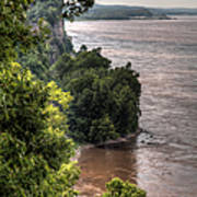 River Bluff View Art Print
