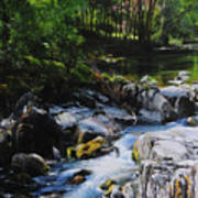River In Wales Art Print