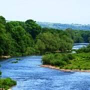 River Wye From Hay-on-wye Bridge Art Print