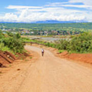 Road Landscape In Tanzania Art Print