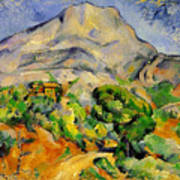Road To The Montagne Sainte-victoire Art Print
