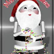 Robo-x9 Wishes A Merry Christmas Art Print