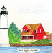 Rock Island Lighthouse Art Print