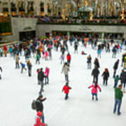 Rockefeller Center Skating Rink New York City Art Print