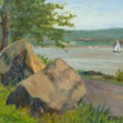 Rocks Along The Nyack Trail Art Print