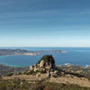 Rocky Outcrop Above Calvi Bay In Corsica Art Print
