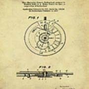 Rolex Watch Patent 1999 In Sepia Art Print