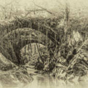 Roman Bridge , Penmachno  Art Print