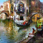 Romance In Venice Art Print