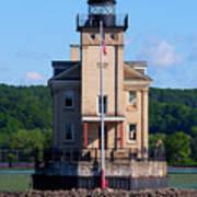 Rondout Lighthouse On The Hudson River New York Art Print