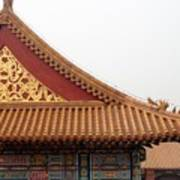 Roof Forbidden City Beijing China Art Print