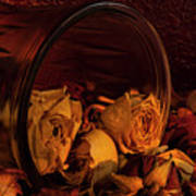 Roses Spilling Out Of Vase Art Print