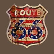 Route 66 T-shirt Art Print