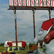 Route 66 - Mule Trading Post Art Print