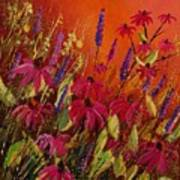 Rudbeckias And Lyatris Art Print