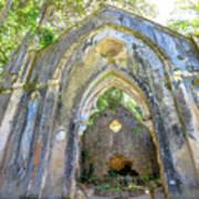 Ruins Of Chapel Sintra Art Print