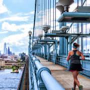 Running The Bridge Art Print