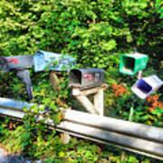 Rural Mailboxes  Art Print