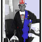Russell Short Celebrating July 4th Tucson Medical Center 1990-2008 Art Print