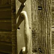 Rusted Door Handle Art Print