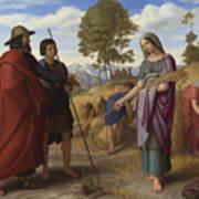 Ruth In Boazs Field Art Print