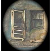 Sagging Door Lordsburg New Mexico 1968-2012 Art Print