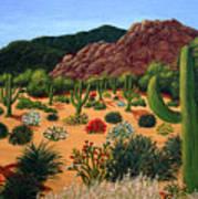 Saguaro Desert Art Print