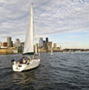 Sail Seattle Art Print