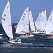 Sailboat Championship Racing Art Print