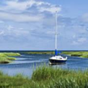 Sailboat Salt Marsh Art Print