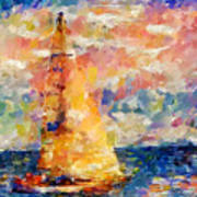 Sailing In The Sea Art Print