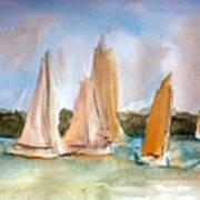 Sailing  Art Print by Julie Lueders